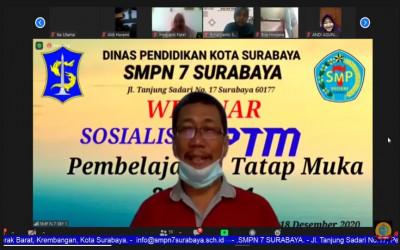 Live streaming Sosialisasi dan Informasi terkait Pembelajaran Tatap Muka (PTM) SMP Negeri 7 Surabaya Kelas 7
