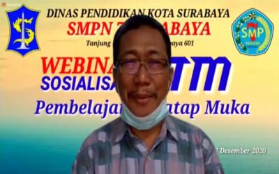 Sosialisasi dan Informasi terkait Pembelajaran Tatap Muka (PTM) SMP Negeri 7 Surabaya Kelas 8